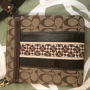 Crossbody purse - coach logo